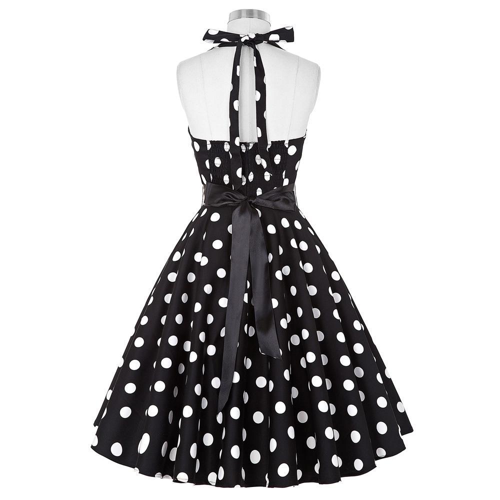 909e2bc9 Swingowa sukienka w modne groszki